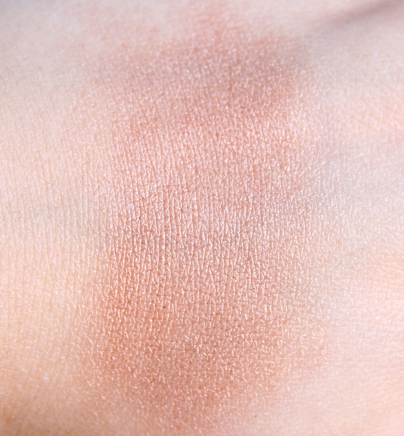 bronze kissed swatch blended