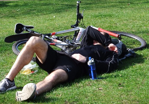 Man and Bike at rest