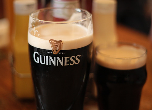 pints o' Guinness Stout (by: Matthew Kenwrick, creative commons license)