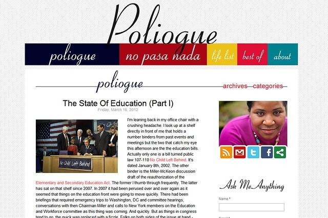 Poliogue.com screenshot