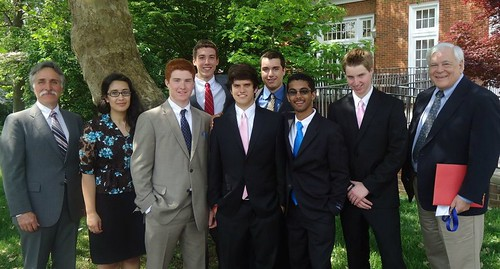 Real World Design Challenge team members from Falmouth High School pose for a picture.