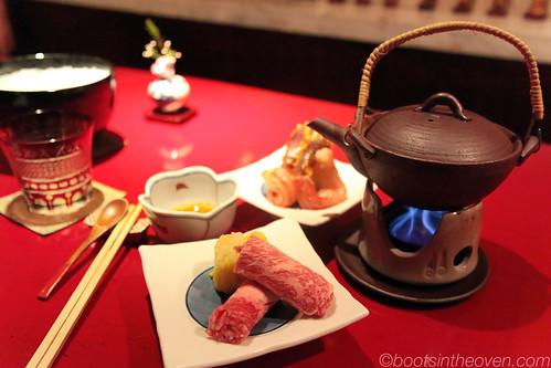 shabu shabu (choose crab or beef)
