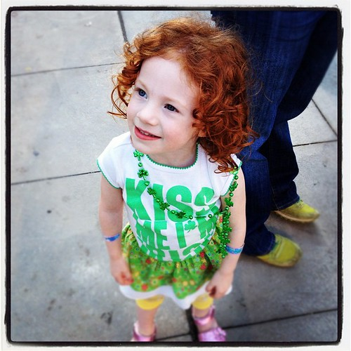 Red head on st pats.  It's her birthday, too!  #birthday #stpats