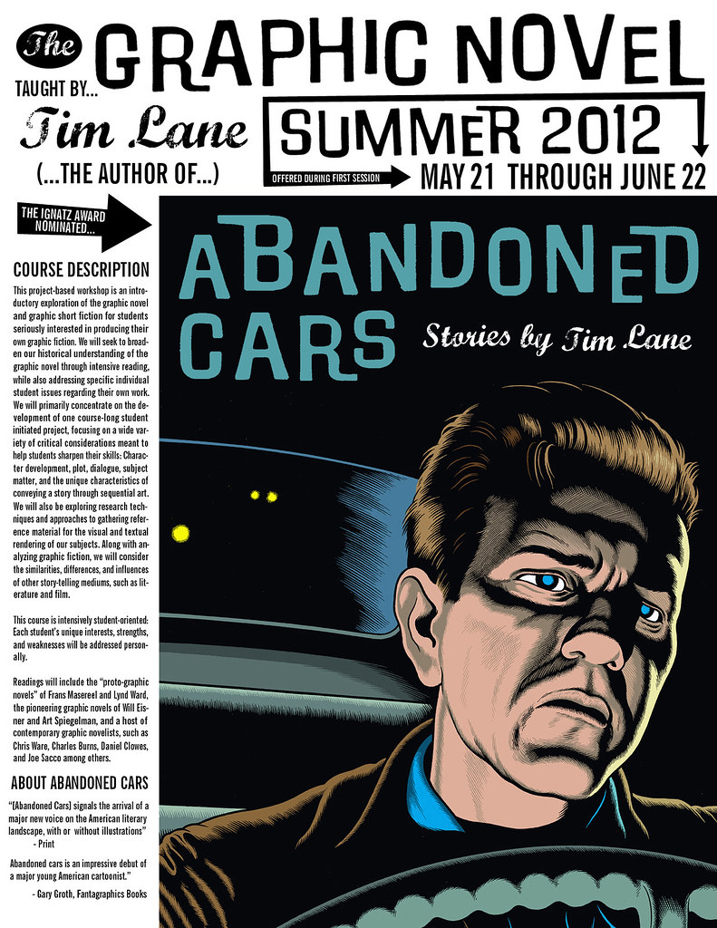 Tim Lane Graphic Novel Course