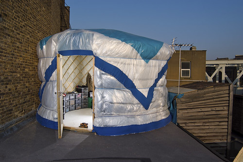 My yurt in the city
