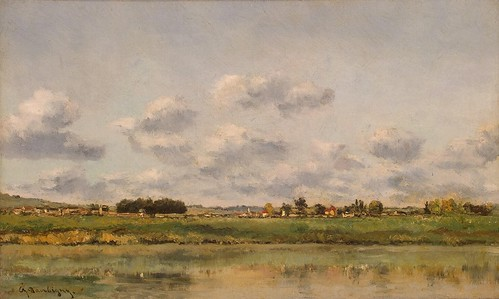 Charles-Francois Daubigny - The Banks of the Loing by Gandalf's Gallery