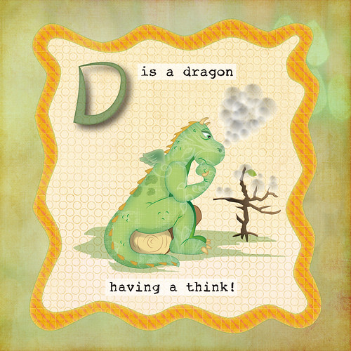 D is for dragon by helencarter1001