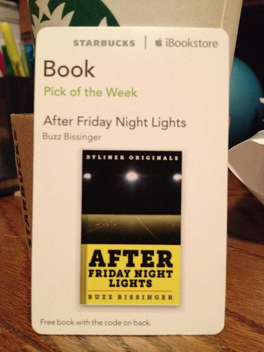 Starbucks iTunes Pick of the Week - After Friday Night Lights [book]