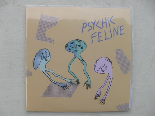 "Psychic Feline - White Walls 7"" - Water Wing Records"