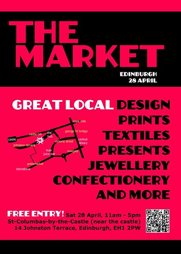 The Market, Saturday 28th April 2012 at St Columba's by the Castle, 11am to 5pm. Free entry