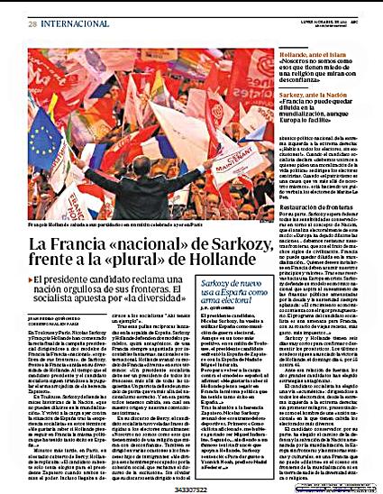 12d30 Sarkozy Francia nacional Hollande Francia diversa
