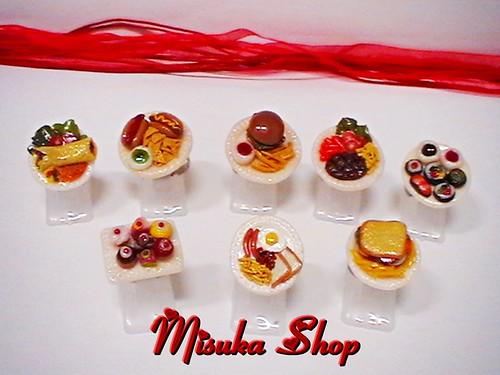 Anillos Miniaturas de platos combinados