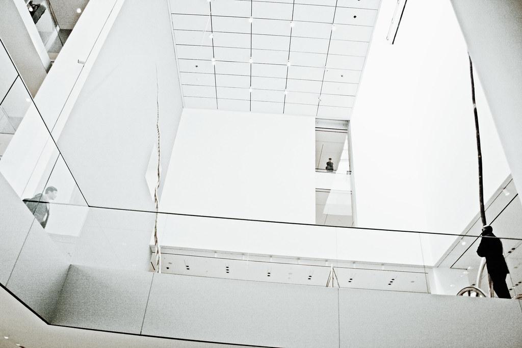 Gazing up, Martin Puryear's Ladder to Nowhere, MoMA