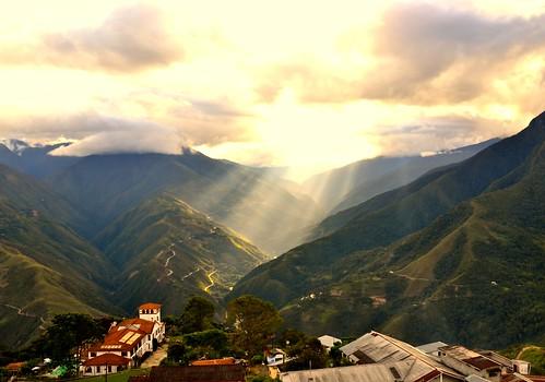 sun bolivia montains coroico nikond3100