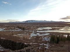 Looking Across The Rift Valley Towards The Eurasian Tectonic Plate, Þingvellir National Park, Bláskógabyggð