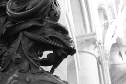 sculpture en bois Cathédrale de Christ Church Oxford