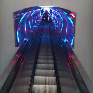 Atomium Disco Escalator
