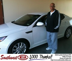 Congratulations to Kennedy Neal on your #Kia #Optima purchase from Antonio Benitez at Southwest Kia Dallas! #NewCar