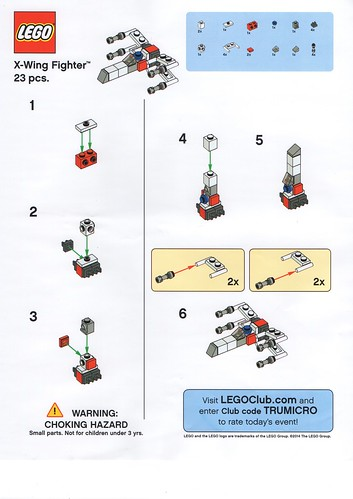 Toys R Us Lego Star Wars Starfighter Building Event Instructions