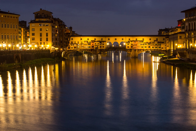 Evening Reflections - Ponte Vecchio, Italy