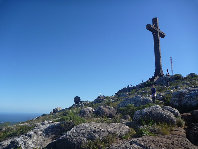 La croix en haut du Cerro Pan de Azuca