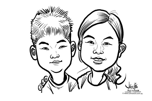 digital live caricature sketching for National Heart Centre Singapore -22