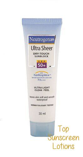 Best Sunscreen Lotion in India #6 - Neutrogena Ultra Sheer Dry touch Sunblock SPF 50+