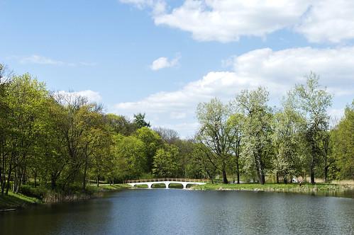 park city trees sky water clouds spring europe central lithuania lietuva kėdainiai
