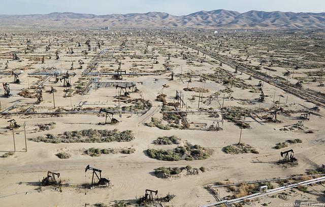 Oil field, southwestern Kern County, California