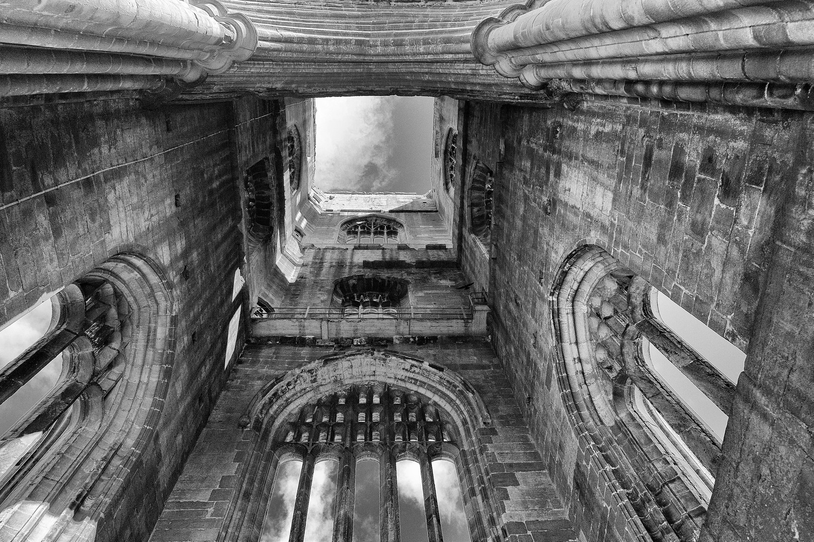 Inside Huby's Tower, Fountains Abbey. Credit Juliet220