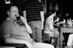 The man with the beer in Poland,Krakow