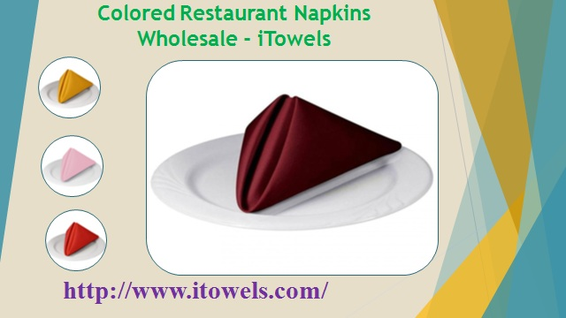 Colored Restaurant Napkins Wholesale - iTowels