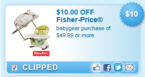Fisher-price Babygear Coupon