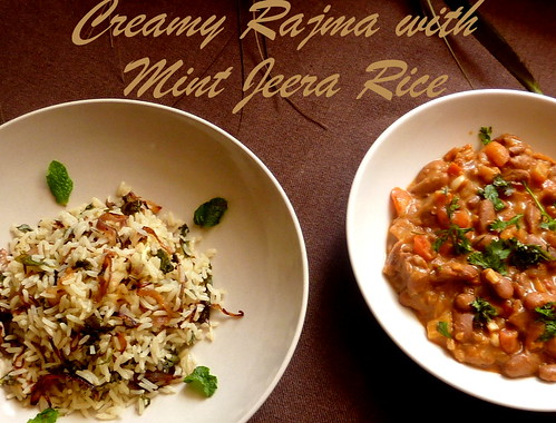 Jeera Rice and Rajma