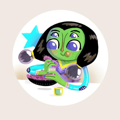 Alien Girl Spot 03