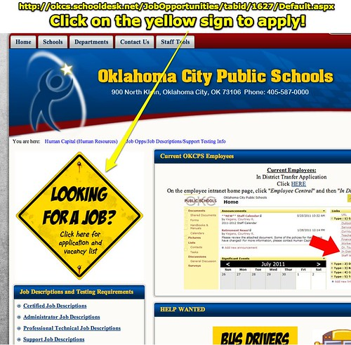 Job Opportunities in OKCPS