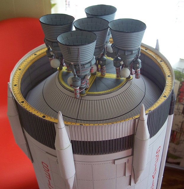 1:48 Saturn V rocket model progress | Flickr - Photo Sharing!