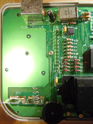 Game Fighter, Gameboy clone - PCB component side, left