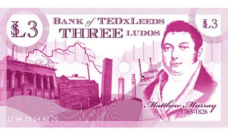 Bank of Tedx Leeds banknote