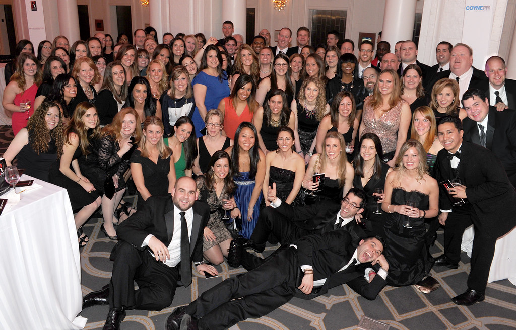 PRWeek Awards - Coyne PR Big Group Shot!