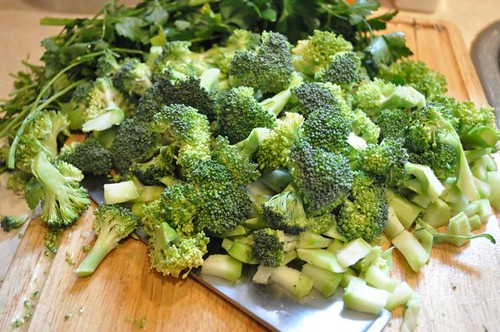 broccoli pesto/brocooli chopped