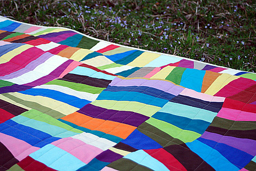 Quilted in a loose grid