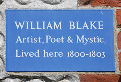 Photo of William Blake blue plaque