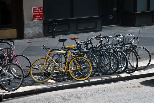 Bike parking, Philly