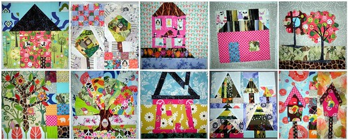 Home Sweet Home Quilt Along - First 10 Blocks