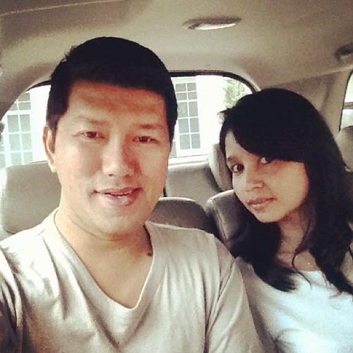 Dalam kereta dgn Liza (isteri Ajai) ke Plaza Indonesia
