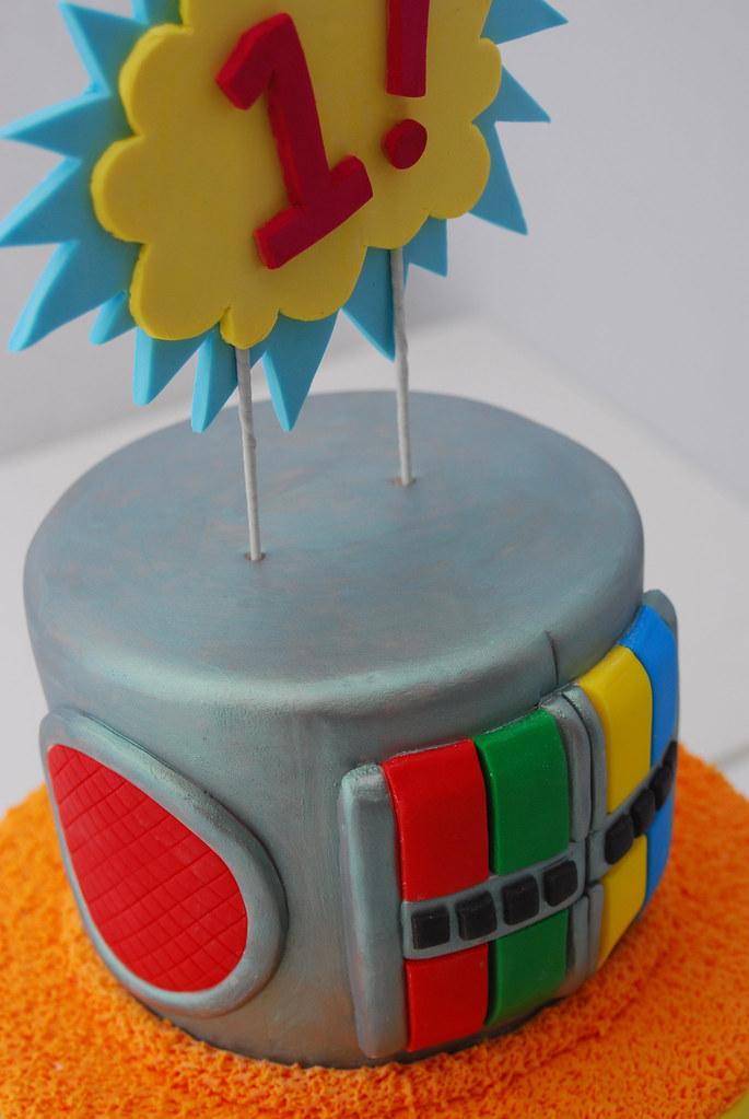 Outstanding Yo Gabba Gabba Fondant 1St Birthday Cake A Yo Gabba Gabba Flickr Birthday Cards Printable Inklcafe Filternl