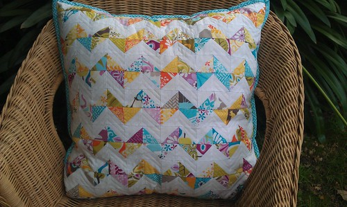 Scrappy Zig Zag pillow