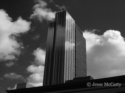 Seattle Skyscraper in Black and White