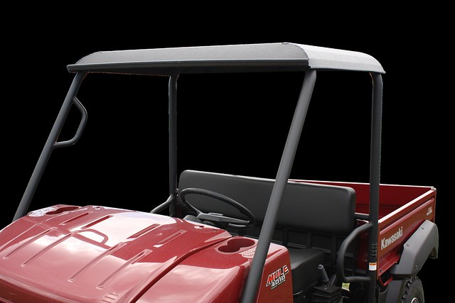 Kawasaki Mule Red With White Cab